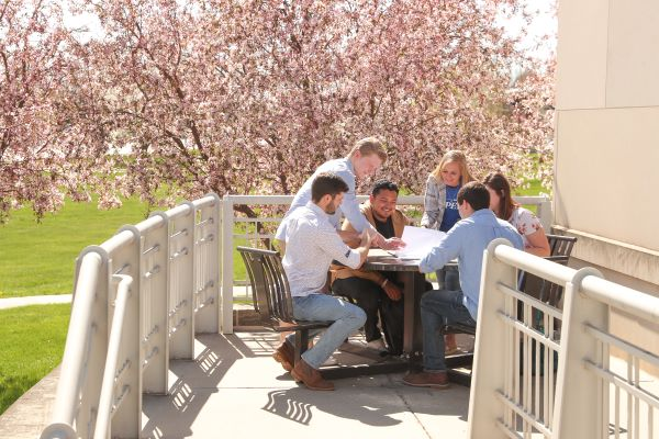 University of Nebraska at Kearney students on campus